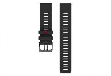 Reloj Grit X con correa de silicona negra de 22 mm Polar