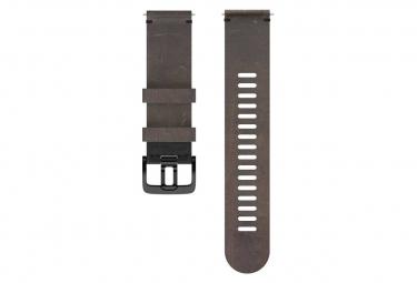 Image of Bracelet cuir polar 22 mm brun m l