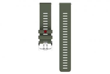 Reloj de 22 mm de color verde caqui con correa de silicona verde Grit X