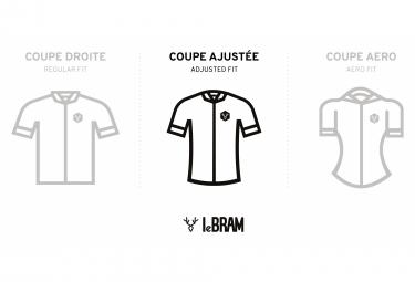 LeBram Ventoux Short Sleeve Jersey White Bordeaux Slim Fit