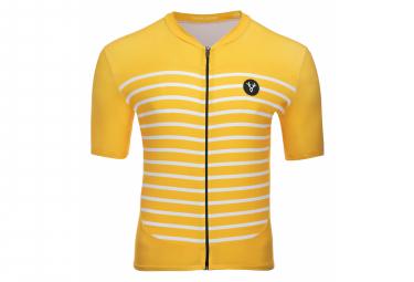 LeBram Ventoux Short Sleeve Jersey Yellow Slim Fit