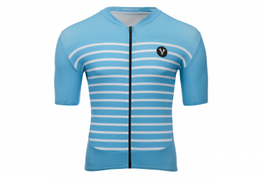 LeBram Ventoux Short Sleeve Jersey Sky Blue Slim Fit
