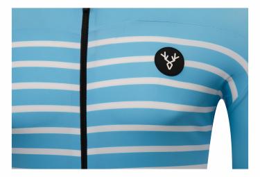 Maillot Manches Courtes LeBram Ventoux Bleu Ciel Coupe Ajustée