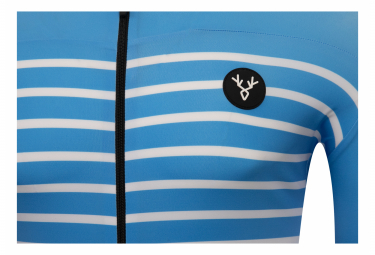 Maillot Manches Courtes LeBram Ventoux Bleu Azur Coupe Ajustée