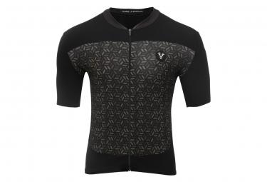 LeBram Short Sleeve Jersey Croix de Fer Black Khaki Slim Fit