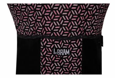 Maillot Manches Courtes LeBram Croix de Fer Noir Saumon Coupe Ajustée