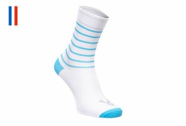 LeBram Ventoux Socks White Sapphire Blue