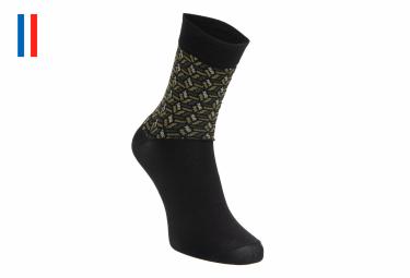Pair of LeBram Iron Cross Socks Khaki