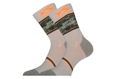 Ventura carbon sock arm e de khaki   orange 39 42