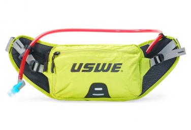 Cinturón de hidratación USWE Zulo 2 con bolsillo de agua 1L amarillo fluo