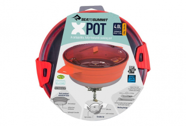 Popote pliable XPOT 4L Sea to Summit rouge