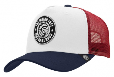Image of Casquette trucker born to be free blanc the indian face pour hommes et femmes