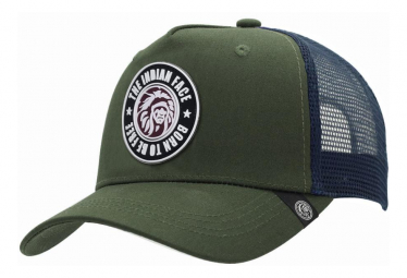 Image of Casquette trucker born to be free vert the indian face pour hommes et femmes