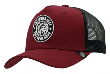 Image of Casquette trucker born to be free rouge the indian face pour hommes et femmes
