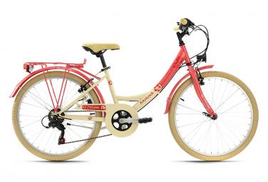 Vélo enfant 24'' Kahuna beige-rouge TC 36 cm KS Cycling