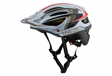 Casco Troy Lee Designs A2 Mips Mirage Gris / Rouge