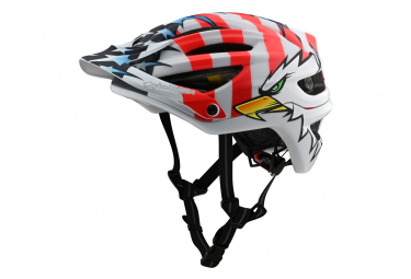 Casco Troy Lee Designs A2 Mips Screaming Eagle White