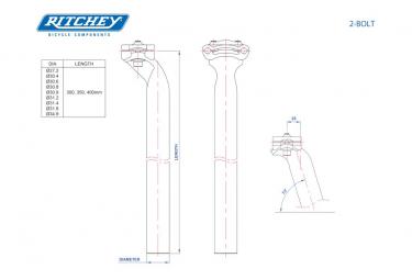Ritchey Comp 2-Bolt Alu D Seatpost 0mm Black