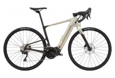 Gravel Bike Elektro Cannondale Topstone Neo Carbon 4 700c Shimano GRX 10V Champagner 2021