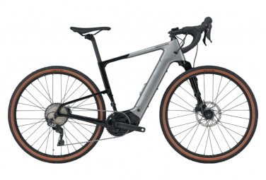 Gravel Bike Electric Cannondale Topstone Neo Carbon Lefty 3 650b Shimano Grx 11v Gris L   180 193 Cm
