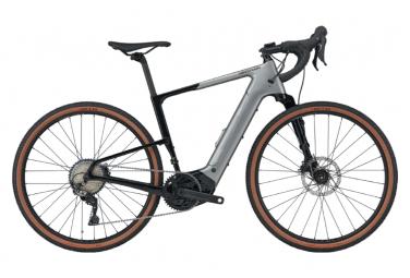 Gravel Bike Électrique Cannondale Topstone Neo Lefty 3 Shimano GRX 11V 2021 Gris / Noir