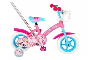 Vélo enfant OJO, fille - 10 po - rose/bleu