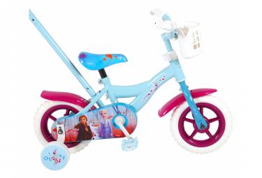 Image of Velo pour enfants disney frozen 2 filles 10 pouces bleu violet