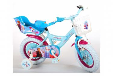 Image of Velo enfant disney la reine des neiges 2 fille 12 po bleu mauve assemble a 95