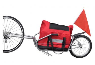 vidaXL Remorque à Enfant - Remorque de Vélo à une roue avec sac de rangement