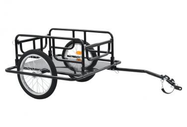 vidaXL Remorque à Enfant - Remorque de bicyclette 130x73x48,5 cm Acier Noir