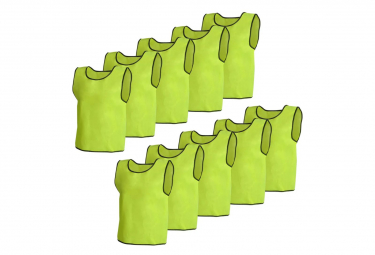 Image of 10 pcs gilet de formation junior jaune