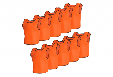 Image of 10 pcs gilet de formation senior orange