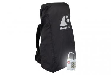 Image of Travelsafe housse a combinaison de sac a dos avec serrure tsa l noir