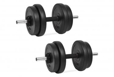Vidaxl ensemble d halteres   4 x disque de poids 2 5 kg   4 x disque de poids 2 kg