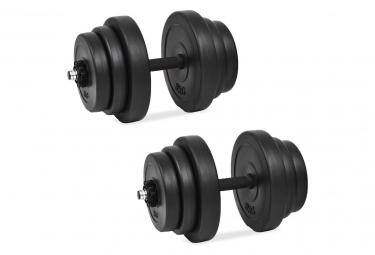 Vidaxl ensemble d halteres 18 pcs 40 kg