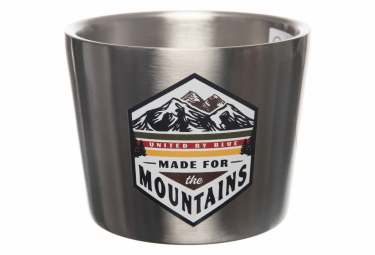 United by blue taza de acero inoxidable made for the mountains 295 ml gris