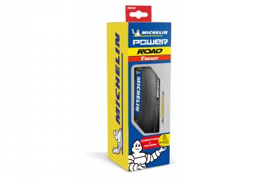 Neumático de carretera Michelin Power Road TLR 700 mm Compuesto X-Race plegable sin cámara listo para usar Negro