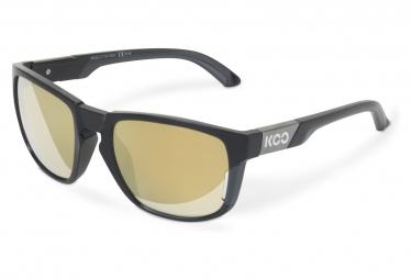 Image of Paire de lunettes koo california noir anthracite verres couleur or
