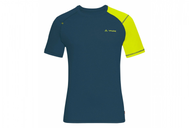 Vaude Hallett Camiseta Azul Amarillo Hombres S