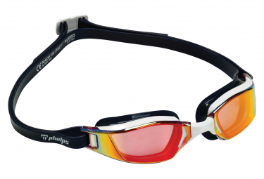 Mickael Phelps Xceed Bath glasses White Blue Red Mirror Lenses
