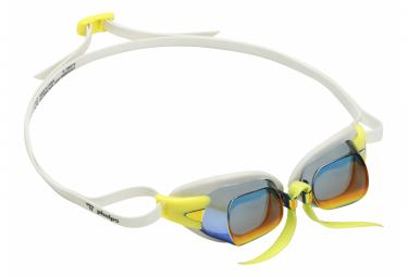 Gafas De Bano Mickael Phelps Chronos Blanco Lentes Amarillas Espejo Rojo