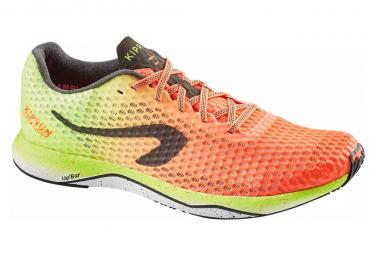 Zapatillas running kiprun ultralight hombre naranja amarillo 45