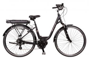 Bicicleta Urbana Eléctrica Mujer Granville Smooth 50 Promovec Lady Shimano Altus 8v Negro 2020