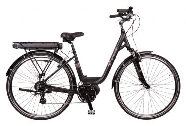 Vélo de Ville Électrique Femme Granville Smooth 50 Promovec Lady Shimano Altus 8V 418 Noir 2020