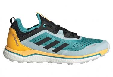 Adidas Terrex Agravic Flow Grün Gelb Schwarz Trail Schuhe