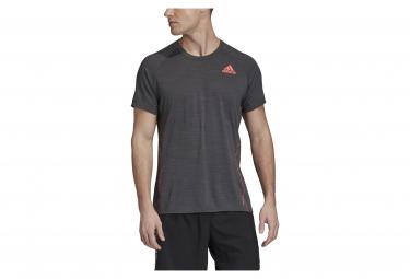 Adidas Runner T-Shirt Kurzarmtrikot Schwarz Orange