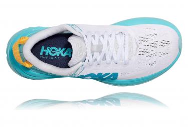 Chaussures de Running Femme Hoka One One Carbon X Bleu / Blanc