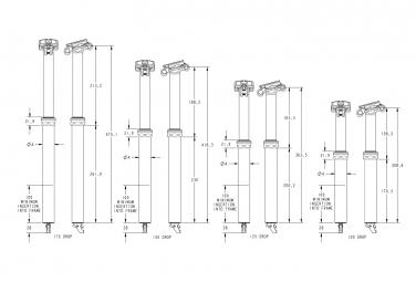 Tige de Selle Télescopique Fox Racing Shox Transfer Factory Durite Interne 2022 (Sans Commande)
