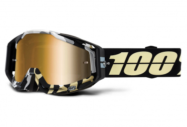 Máscara 100% Racecraft black gold Miroir