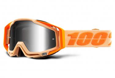 Masque 100% Racecraft Sahara Orange / Ecran Miroir Argent